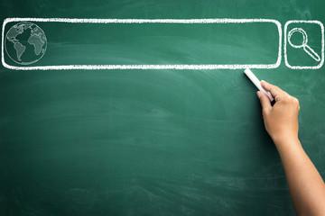 search bar draw on  chalkboard