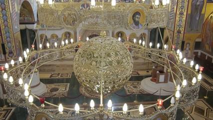 orthodox church in Montenegro beautifully painted