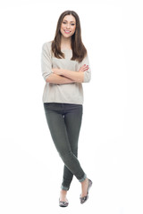 Attractive young woman standing