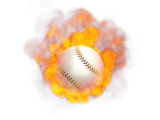 炎の野球ボール