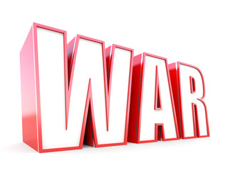War 3D typography