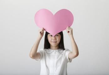 girl holding love