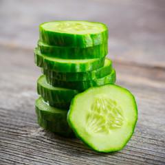 Sliced Cucumber in Stack