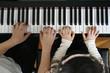 Leinwanddruck Bild - ピアノ教室