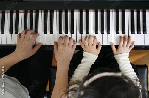 Leinwanddruck Bild ピアノ教室