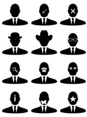 Businessman icons