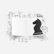 drawing business formulas. chess