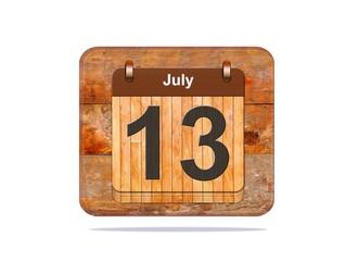 July 13.