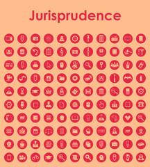 Set of jurisprudence simple icons