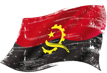 Angolan grunge flag