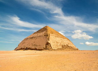 Famous Bent Pyramid in Dahshur