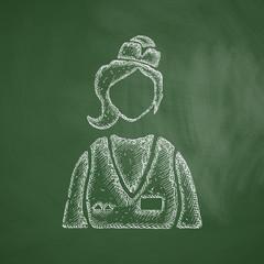 saleswoman icon