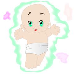 малыш акварель