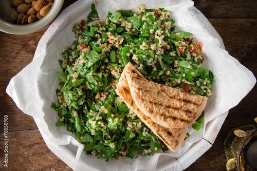 Fotobehang Salade Couscous Salat