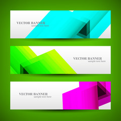 Set banner abstract illustration