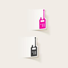 realistic design element. police radio