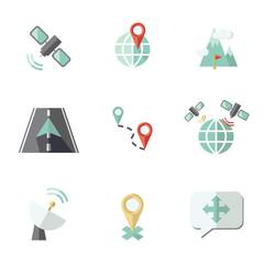 Navigation icons set.