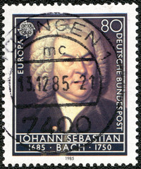 GERMANY - 1985: shows Johann Sebastian Bach (1685-1750)