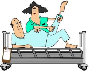 Patient in rehab