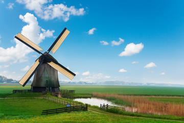 Old mill in Netherlands near Molendjik