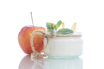 home sweet yogurt with apples