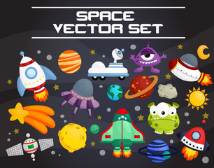 space invader vector set