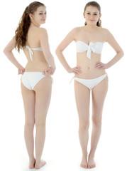 Teen in Bikini von vorne und hinten