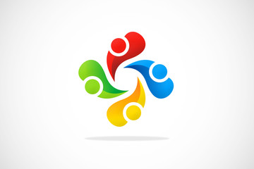 abstract diversity logo