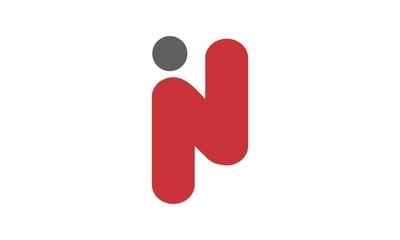 i & n letter logo