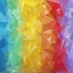 vector polygonal background  triangular design rainbow colors