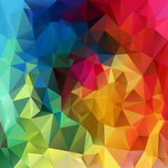 vector polygonal background triangular design in rainbow colors