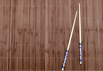 chopsticks on the mat