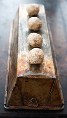 Raw balls with nuts and seeds