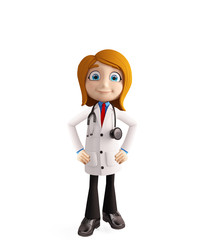 Female doctor with standing pose