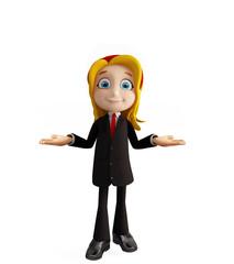 Businesswomen with presentation pose