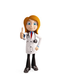 Female doctor with thumbs up pose