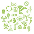 icons of Ecology and pollution