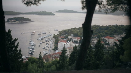 Stunning views of the island of Hvar in Croatia