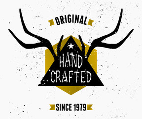 Antlers and Triangle Label Design