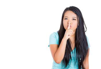 Girl keeping a secret