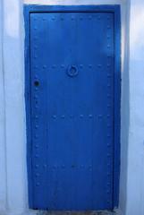 Blue Door with handle