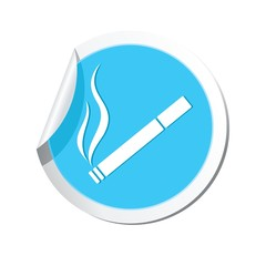 Map pointer with cigarette icon. Smoking sign
