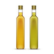 Vector Set of Olive or Sunflower Oil Glass Bottles - 78059373