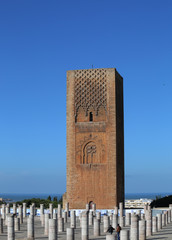 Hassan Tower and Roman Columns at Mausoleum of Mohammed V