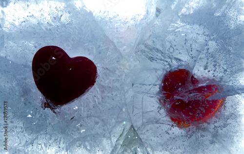 canvas print picture Herz auf Eis Photo © Herby Meseritsch