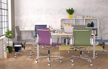 Modernes Büro - Besprechung