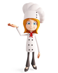 Chef character with  presentation pose