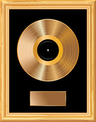 blank golden LP frame