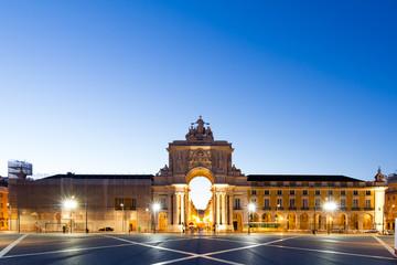 The Praca do Comercio in Lisbon.