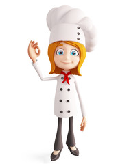 Chef character with best sign
